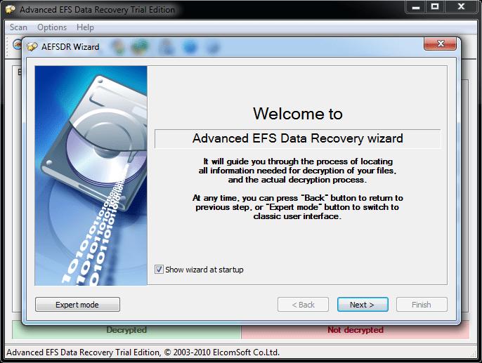 Advanced efs encryption recovery
